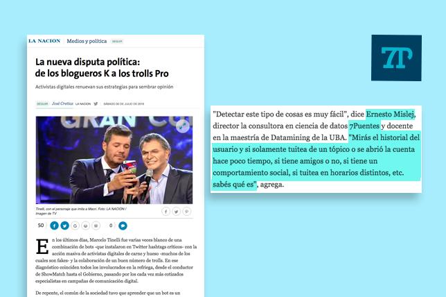 ACTIVISMO DIGITAL. 7Puentes en los medios: La Nación